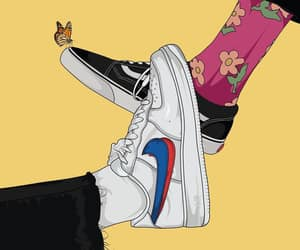 nike, background, and butterfly image