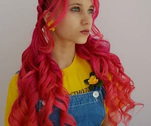colorful, girl, and hair image