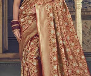dress, dresses, and saree image