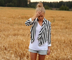 fashion, field, and stripes image