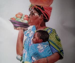 pencil drawing, african artist, and portraitist image