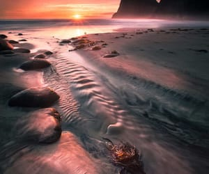 norway, sunset, and seascape image