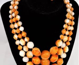 etsy, mid century, and orange necklace image