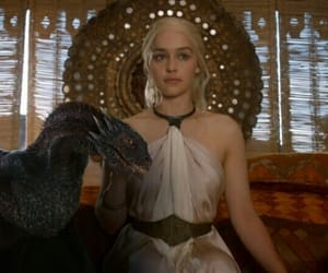 dragon, game of thrones, and Queen image
