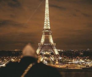 paris, night, and travel image