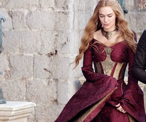 dress, cersei, and red image