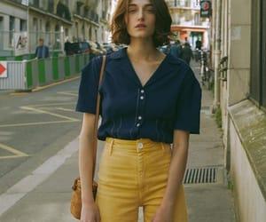 amarillo, azul, and casual image