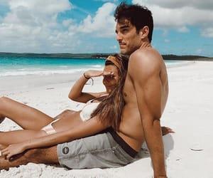 beach, boyfriend, and girlfriend image