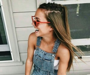 braid, denim, and girl image
