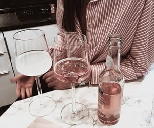 drink, wine, and rose gold image