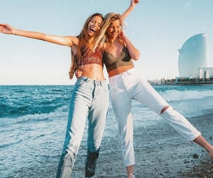 beach, fashion, and friendship image