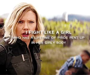 black widow, gif, and fight like a girl image