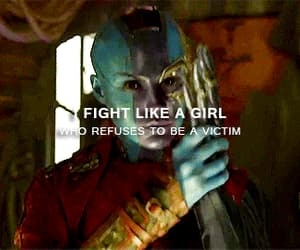 gif, fight like a girl, and guardians of the galaxy image