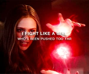 elizabeth olsen, gif, and fight like a girl image