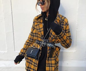 coat, style, and ysl bag image