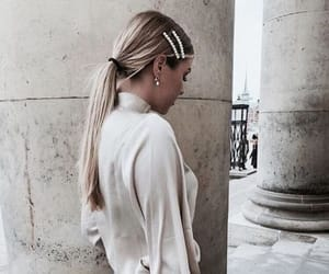 blonde, blouse, and city image