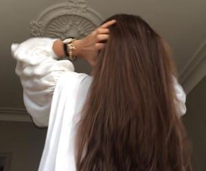 fashion, long hair, and vogue image