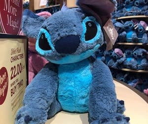 blue, peluche, and stitch image