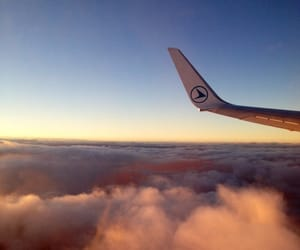 airplane, above the clouds, and cloud image