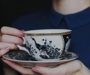 tea, blue, and cup image