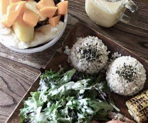 drinks, food, and salad image