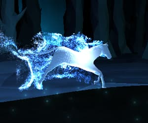 pottermore, expecto patronum, and horse image