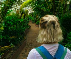 hair, grunge, and plants image