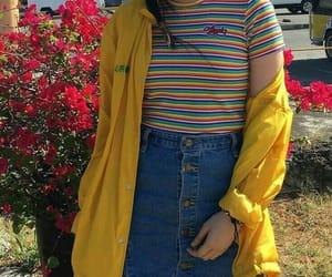 style, fashion, and rainbow image