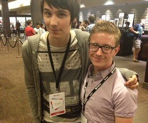 danisnotonfire, tyler oakley, and dan howell image