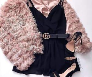 black dress, fashion, and ootd image
