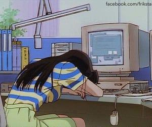 anime, anime girl, and computer image