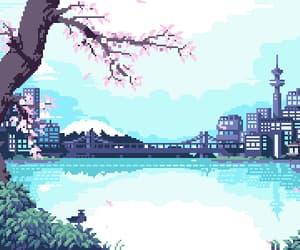 gif, sakura, and japan image