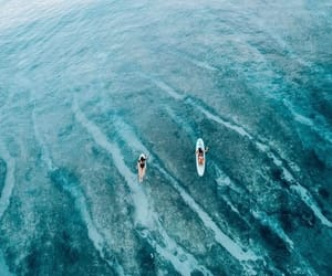 adventure, drone, and ocean image