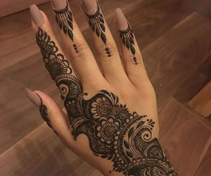 henna, inspiration, and mehndi image