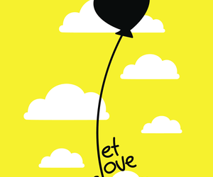 love, fly, and yellow image