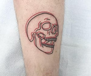 tattoo, art, and skull image