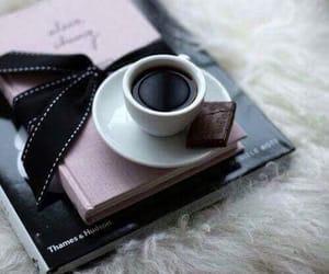 coffee, book, and chocolate image