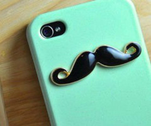 mustache, phone cover, and cute image