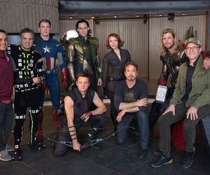 black widow, hawkeye, and iron man image