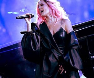 halsey, pink hair, and without me image