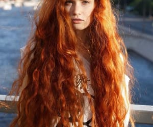 hairstyle, redhead, and wavy image
