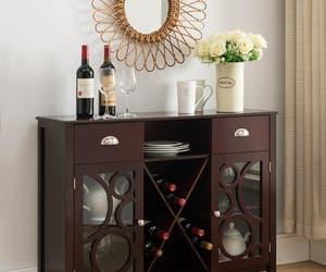 wine storage, wine cabinet, and wood wine rack image