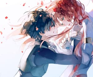 anime, zero two, and couple image