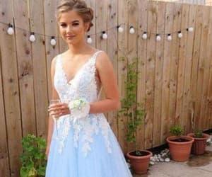 prom dresses, v neck prom dress, and long prom dresses image