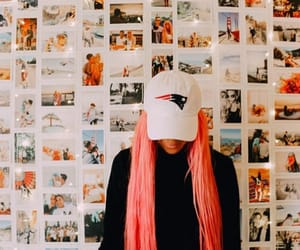 pictures, pink hair, and room image