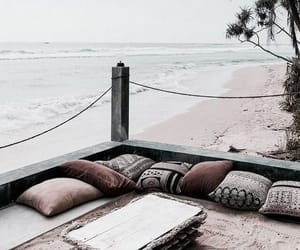 beach, holiday, and sand image