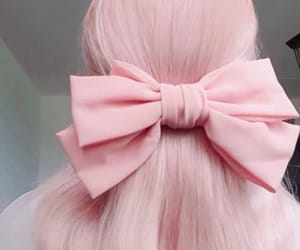 aesthetic, bow, and hair dye image