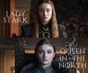 game of thrones, sansa stark, and the queen in the north image