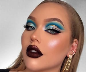beauty, blue, and eyeshadow image