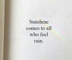 quotes, rain, and sunshine image